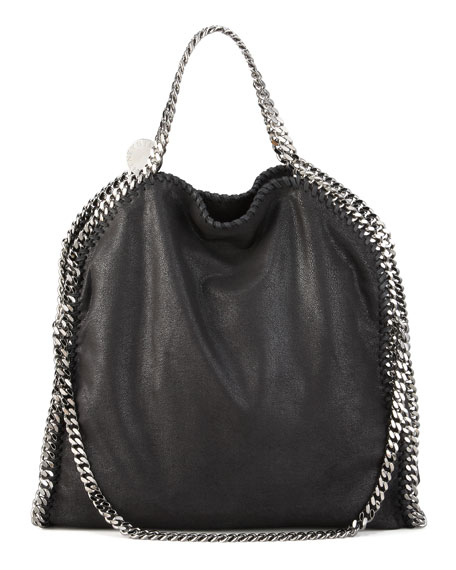Stella McCartney Falabella Fold Over Tote, Black