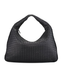 Bottega Veneta Veneta Hobo Bag, Black