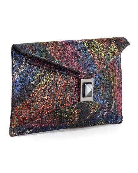 Prunella Stretch Glitter Clutch Bag