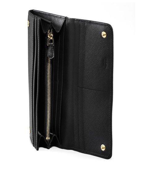Saffiano Flap Wallet, Black (Nero)