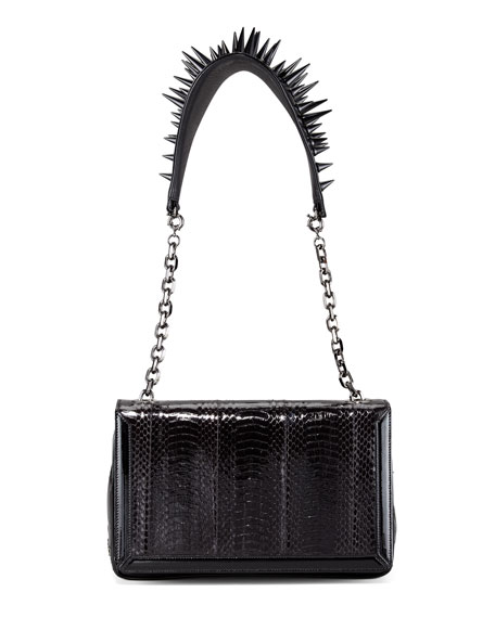 5cfd7efcffc Artemis Spike-Strap Snakeskin Bag