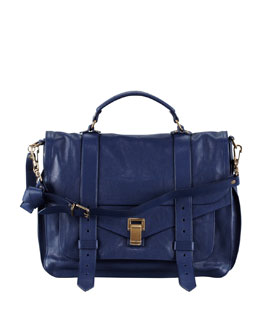 Proenza Schouler PS1 Large Satchel Bag, Midnight