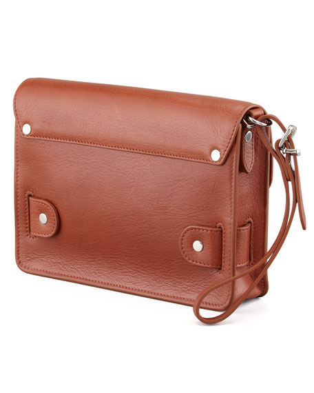 PS11 Wristlet Clutch Bag, Saddle
