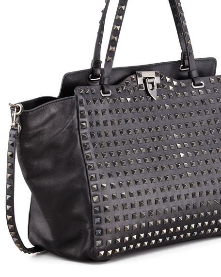 Noir Rockstud Tote Bag, Medium