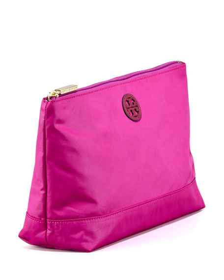 Large Nylon Cosmetic Case, Party Fuchsia