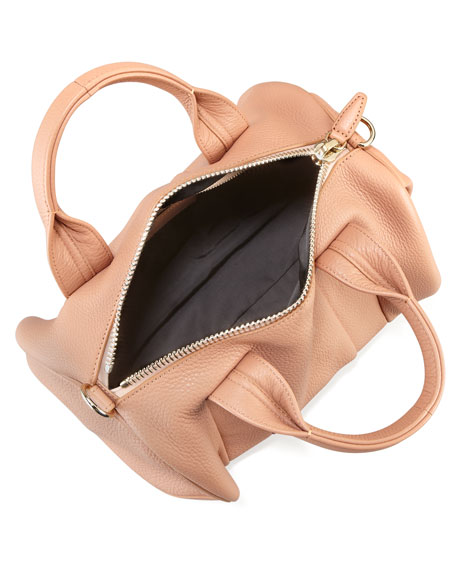 Rocco Stud-Bottom Satchel Duffel Bag, Pinky Beige/Golden