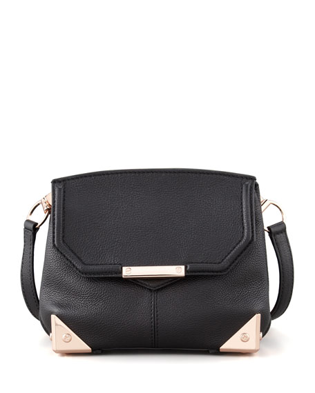 Marion Crossbody Bag, Black/Rose Golden