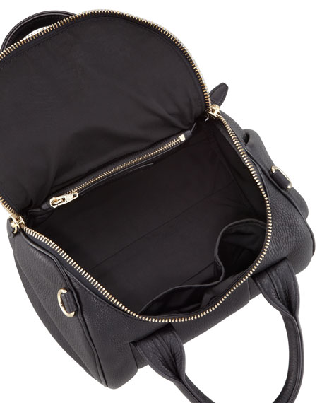Rockie Small Crossbody Satchel, Black/Yellow Golden