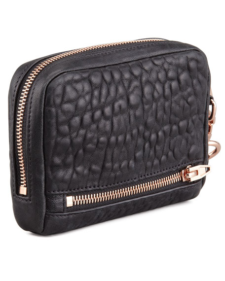 Fumo Zip-Around Wristlet Bag, Black