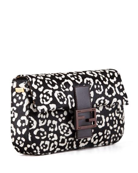 Cheetah-Print Calf Fur Baguette
