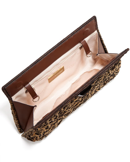 Amo Woven Clutch Bag, Large
