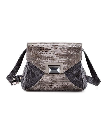 Itty Bitty Trinity Python Lady Bag, Gray Tejus