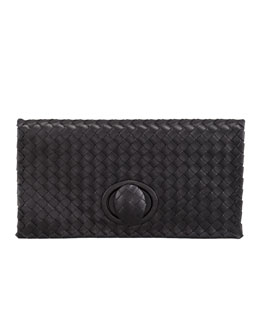 Bottega Veneta Veneta Zip Clutch, Black