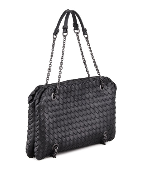 Veneta Small Shoulder Bag, Black