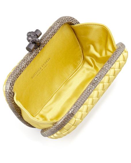 Snake-Trimmed Veneta Minaudiere