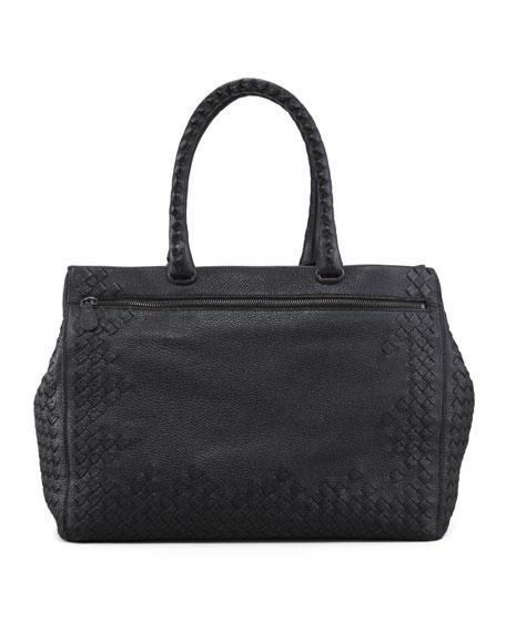 Cervo Woven Frame Tote Bag, Black