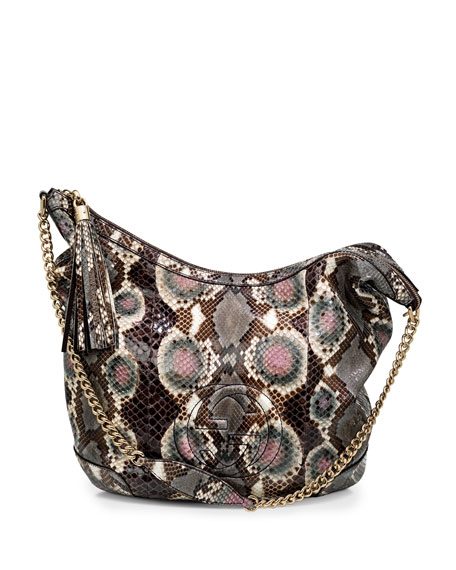 Soho Python Shoulder Bag