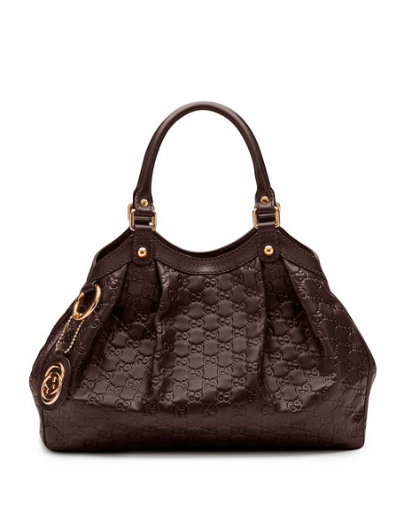Sukey Medium Tote Bag, Dark Brown