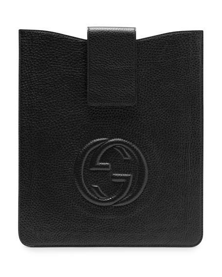 Soho Leather iPad Case, Black