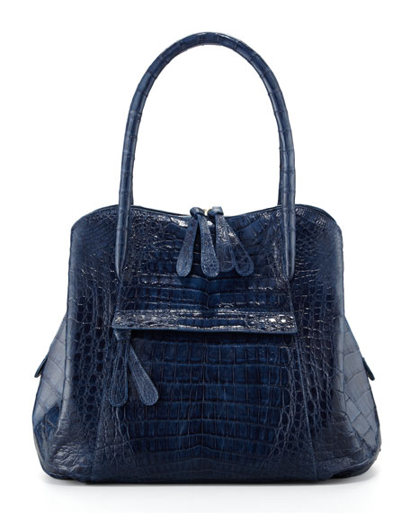 Crocodile Tote Bag, Blue
