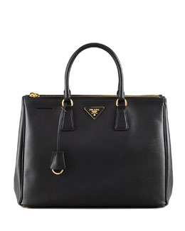 Prada Saffiano Executive Tote Bag, Nero