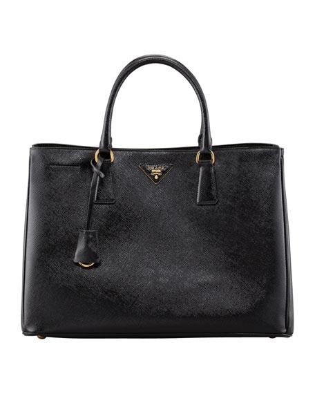 Saffiano Vernice Gardener's Tote Bag, Black (Nero)