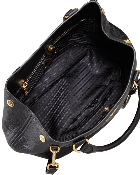 Daino Medium Shoulder Tote Bag, Black (Nero)