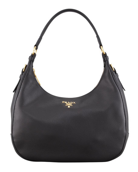 Daino Zip-Top Hobo, Black (Nero)