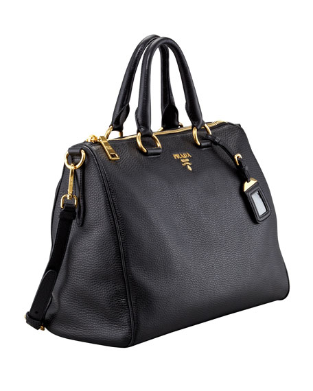 Daino Medium Zip Tote Bag, Black