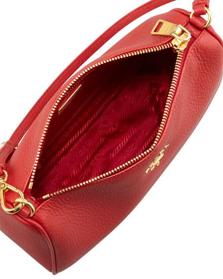 Daino Mini Shoulder Bag, Rosso