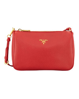 Prada Daino Mini Shoulder Bag, Rosso