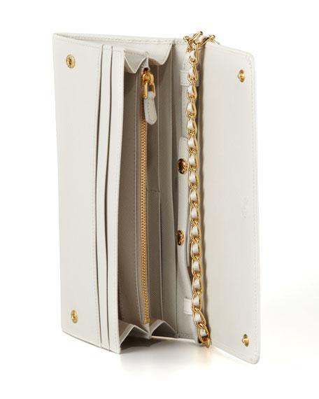 Saffiano Wallet on Chain, (Talco)