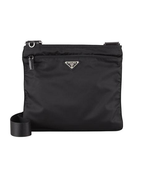 Vela Large Crossbody Messenger Bag, Black (Nero)