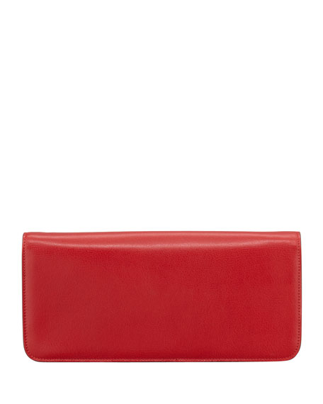 Natalia Calfskin East-West Shoulder Bag, Red