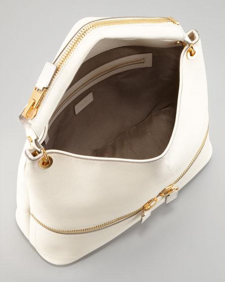 Nina Utility Hobo Bag, Ivory