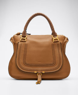 Chloe Marcie Large Shoulder Bag, Tan