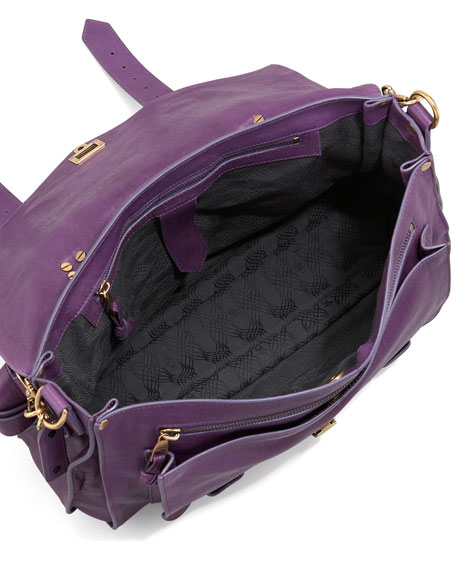 PS1 Large Satchel Bag, Plum