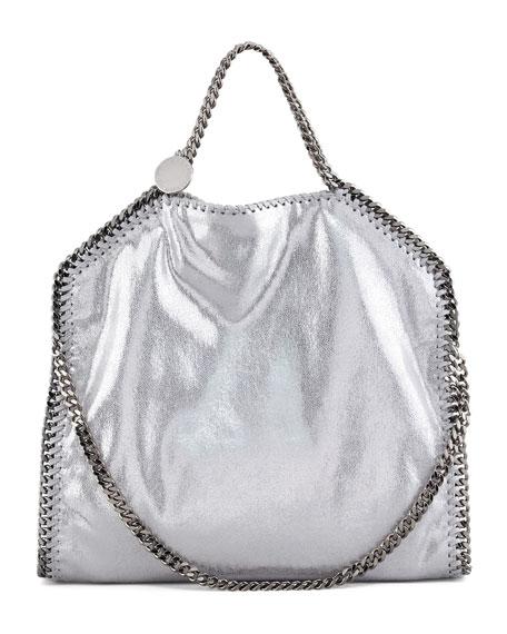 Stella McCartney Falabella Fold Over Tote Bag Silver