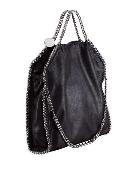 Fold-Over Falabella Tote Bag, Black
