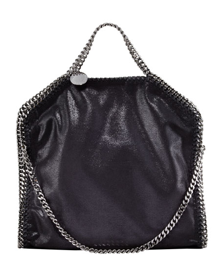 Fold-Over Falabella Tote Bag, Black