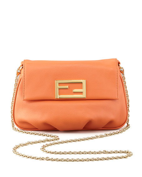 Fendista Pochette Crossbody Bag, Orange