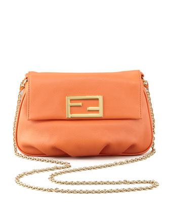 Fendista Pouchette Crossbody Bag, Orange