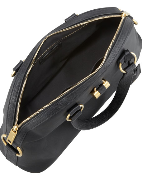 Muse Medium Calfskin Dome Bag, Black