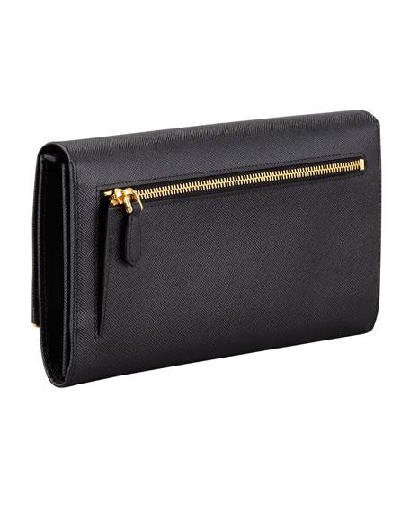 Saffiano Clutch Wallet, Black (Nero)
