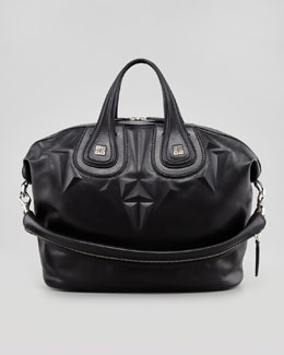 Givenchy Nightingale 3D Stud Medium Satchel Bag, Black