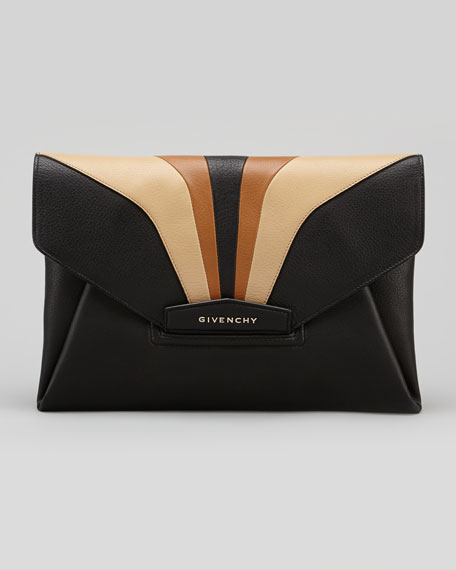 Antigona Large Envelope Clutch Bag, Multi Colors