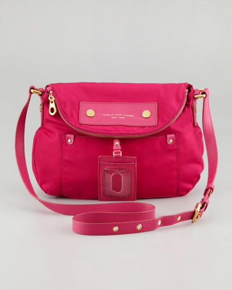 Natasha Preppy Nylon Crossbody Bag