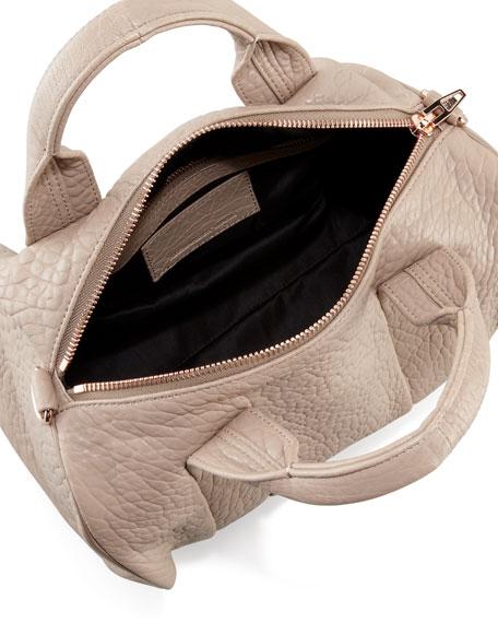 Rocco Stud-Bottom Satchel Duffel Bag, Beige/Rose Gold