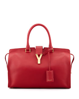 Saint Laurent Y Ligne Soft Leather Bag, Red