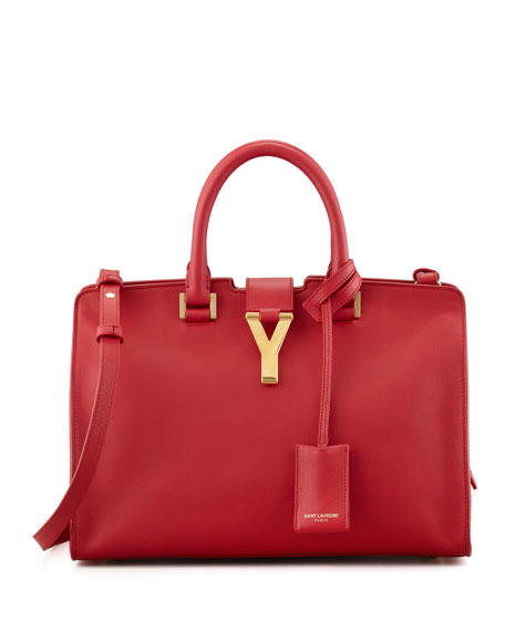 Y Ligne Cuir Gras Mini Bag, Red